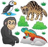 2个动物设置了动物园 免版税库存图片