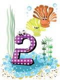 2个动物coralls孩子编号海运系列 免版税库存照片