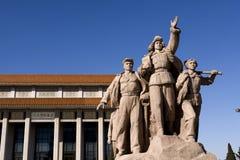 2个北京雕塑 图库摄影