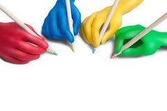 2个协议颜色 图库摄影