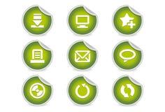 2个博克绿化图标粘性网站 图库摄影