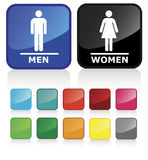 2个卫生间符号 库存照片