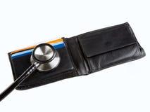 2个听诊器钱包 免版税库存图片