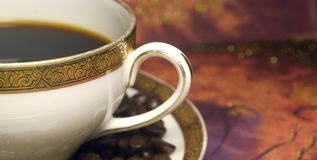 2个咖啡杯 免版税图库摄影