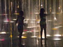 2个喷泉光 免版税库存图片