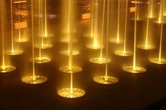 2个喷泉晚上 免版税库存图片