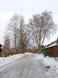 2个国家(地区)冰冷的路 免版税库存照片