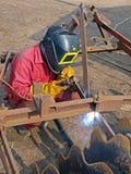 2个国家(地区)焊工 免版税库存照片