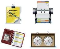 2个图标办公室零件集合向量 免版税库存图片