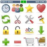 2个图标robico系列万维网 库存图片