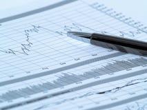 2个图表股票 库存图片