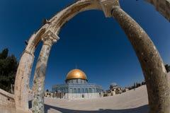 2个圆屋顶金子耶路撒冷 库存图片