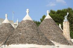 2个圆锥形屋顶 图库摄影