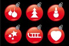 2个圣诞节图标冬天 免版税库存图片