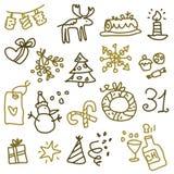 2个圣诞节图标 库存图片