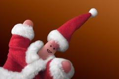 2个圣诞节手指显示 图库摄影