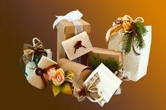 2个圣诞节程序包 免版税图库摄影