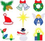 2个圣诞节eps图标 皇族释放例证