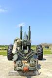 2个地堡大炮德国战争世界 库存照片
