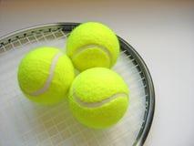 2个场面网球 库存图片