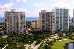 2个城市佛罗里达地平线 库存照片