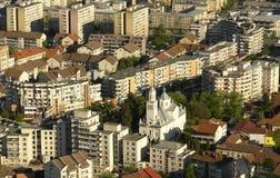 2个城市全视图 免版税库存照片