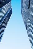 2个城市天空 图库摄影