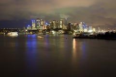 2个城市晚上waverton 免版税库存图片