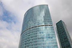 2个城市莫斯科摩天大楼 免版税图库摄影