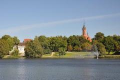 2个城市drushkininkai横向立陶宛公园 免版税库存图片