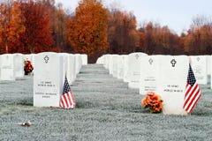 2个墓地国民 库存照片