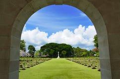2个墓地纪念战争世界 图库摄影