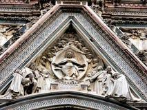 2个大教堂详细资料佛罗伦萨 免版税库存照片