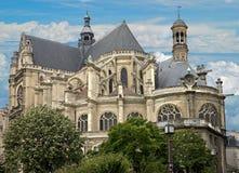 2个大教堂eustache st 免版税库存图片