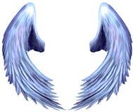 2个天使六翼天使翼 库存图片