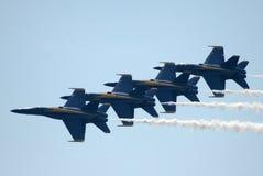 2个天使蓝色海军 免版税库存照片