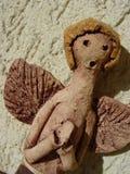 2个天使陶瓷祈祷 库存照片