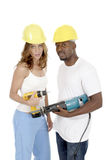 2个女孩人工具 免版税库存照片