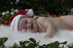 2个婴孩圣诞节 库存图片