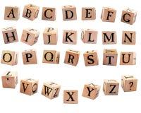 2个字母表块 免版税库存图片