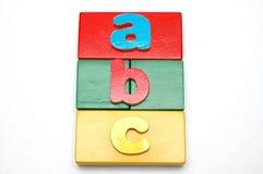 2个字母表块 免版税库存照片