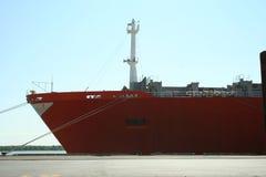 2个容器码头船 免版税图库摄影