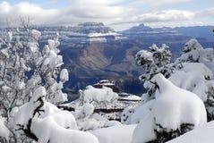 2个峡谷全部冬天 免版税库存图片