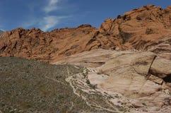 2个峡谷红色岩石 库存图片
