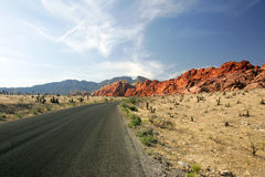 2个峡谷红色岩石 免版税图库摄影