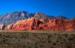 2个峡谷hdr红色岩石 免版税库存图片