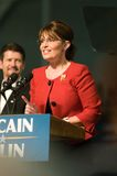 2个州长palin萨拉垂直 库存照片