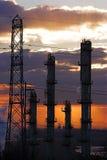 2个工厂横向 免版税库存图片