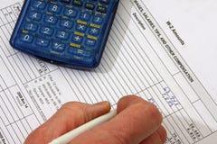 2个帐户w 免版税图库摄影