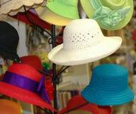 2个帽子夫人夏天 库存图片